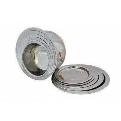 Copper Bottom Top with Lid - 5 Pcs Set - Stainless Steel Top