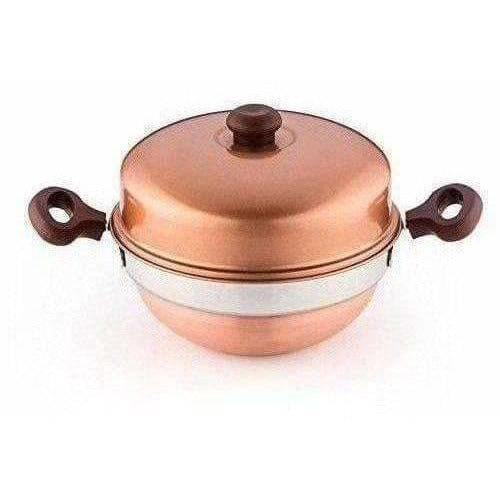 2 Layered Idly Stand with Copper Kadai