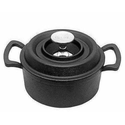 Non Stick Cast Iron Dutch Oven Cookware Black