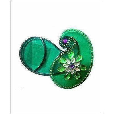 Green Color - Acrylic Kankavati Box PACK OF 6 - Dista Cart