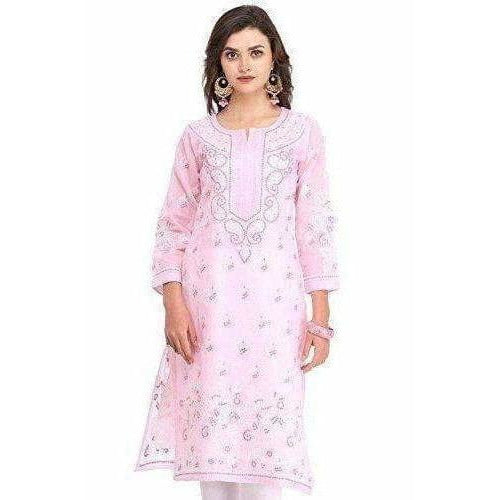 Handmade Regular Fit Womens - Cotton Kurta Kurti