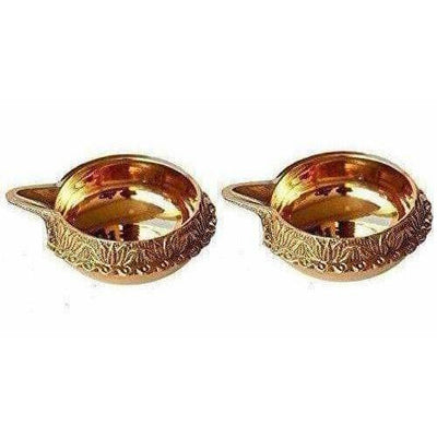 Diwali Kuber Deepak - Diya Oil Lamp For Puja Set Of 2