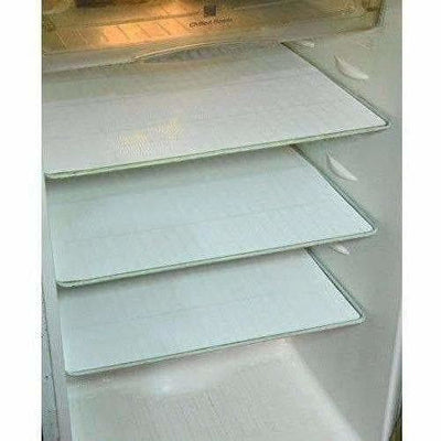 Refrigerator Drawer Mat 6 Piece Set - White Color