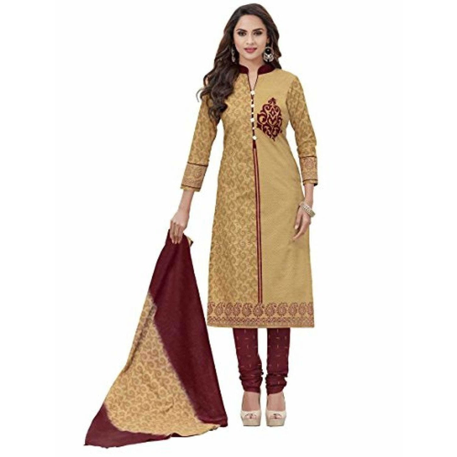 Unstitched Chudidar Suit Dress Material