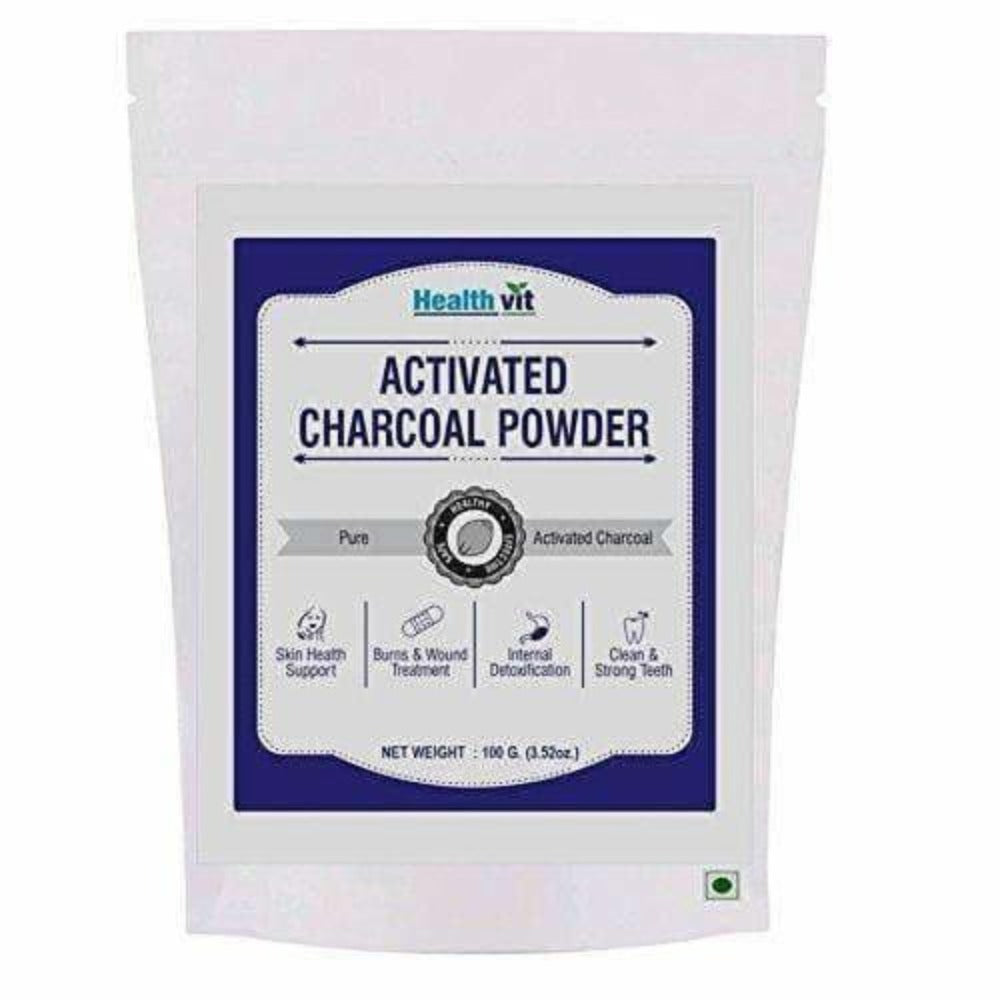 HealthVit Activated Charcoal Powder - 100 g - Dista Cart
