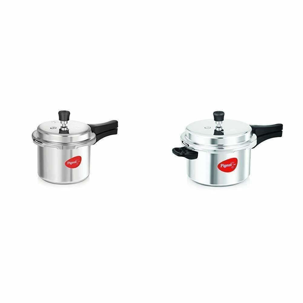 pigeon-Non Induction Aluminium Pressure Cookers Set of 2