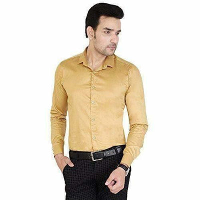 Men's Cotton Solid Full Sleeve Shirts