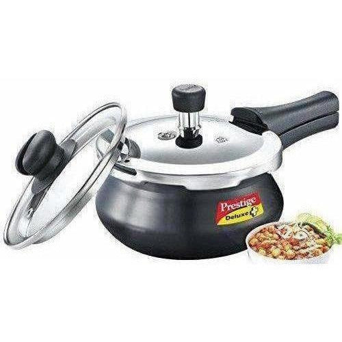 Induction Base Aluminum Pressure Cooker 2 Litres - Black Color