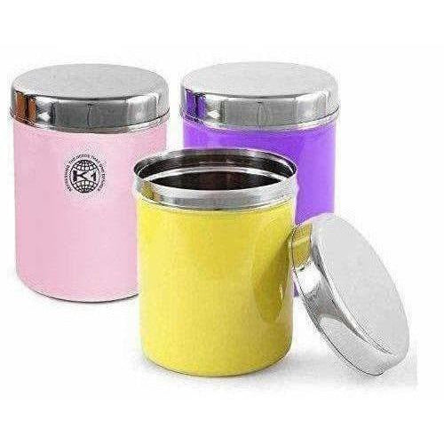 Stainless Steel Food Storage Containers, Set of 3 Piece, 13 cm, 1000 ml