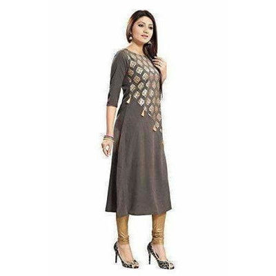 Crepe with Thread Designer Kurti - Distacart