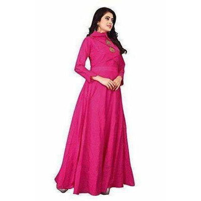 Women's Gown Type Full Sleeve Ankle length Anarkali Cotton Kurti - Distacart