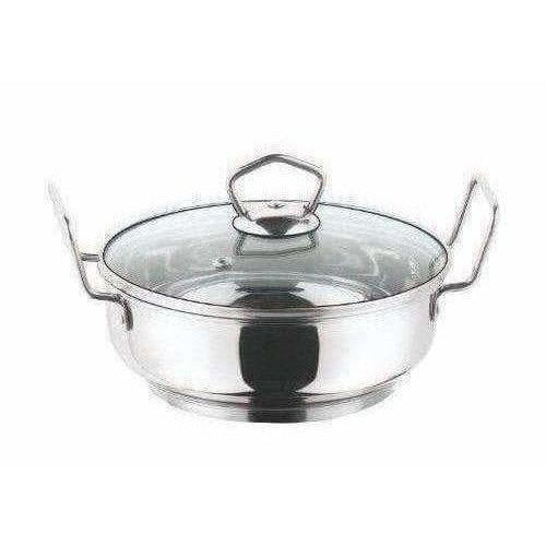 Cookware Induction friendly Kadai with Lid - 2 Litres - Dista Cart
