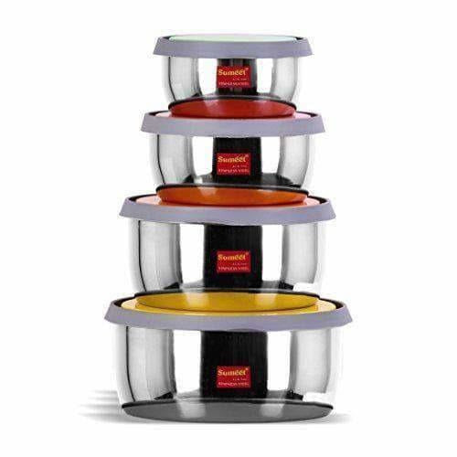 Stainless Steel Food Storage Airtight & Leak Proof -  Set  of 4 Containers