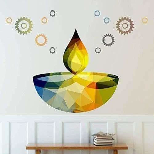 Glowing Earthen Lamp Wall Sticker