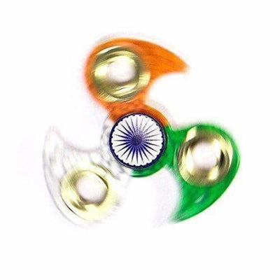 Indian Flag Tri Colour Print Fidget Metal Hand Spinner, Multi Color - Distacart