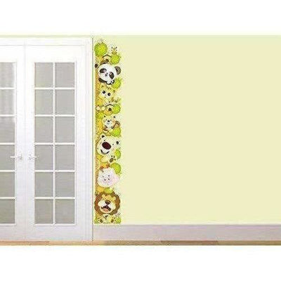 Wall Sticker for Kids Room Animal Height Chart with Multicolour
