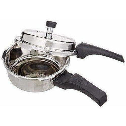 Stainless Steel Pressure Cooker with Lid - 2 Litres
