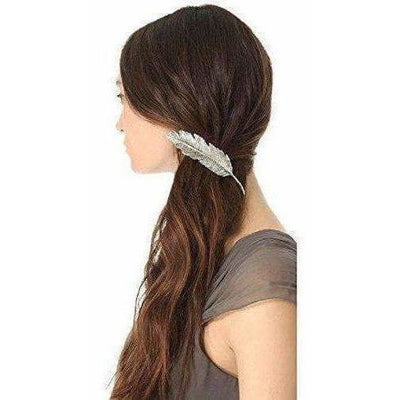 Party Wear & Stylish Metallic Leafy Hair Clip