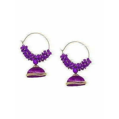 Trendy Design -Metal Beads and Threads in Purple Color