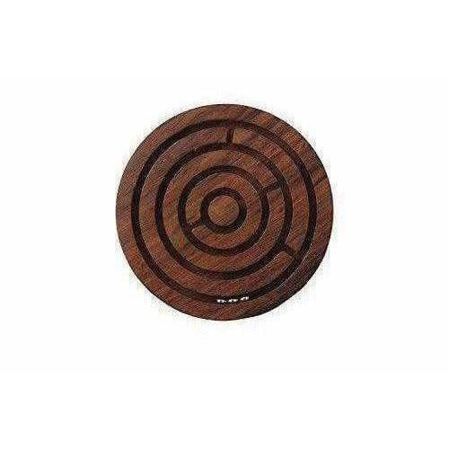 Game Labyrinth Ball-In-A-Maze Puzzles -Brown - Dista Cart