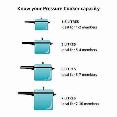 Double Thickness Base - Aluminum Pressure Cooker, 3.5 Litres - Dista Cart