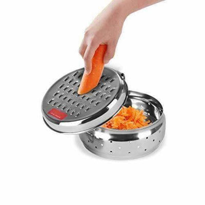 Stainless Steel Spill Free Vegetable Grater with Storage Container