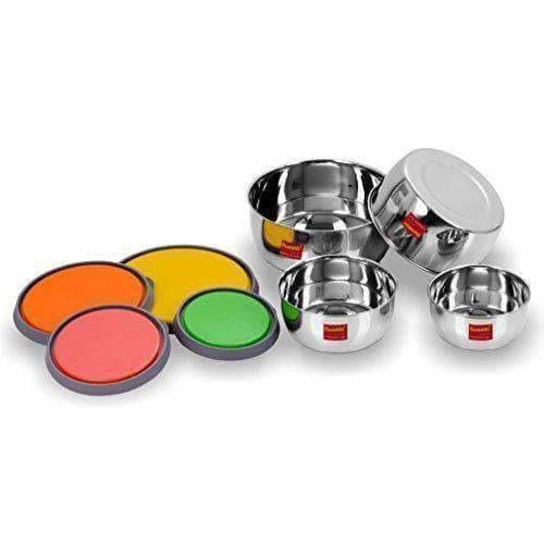 Stainless Steel Food Storage Airtight & Leak Proof Containers Set of 4pices
