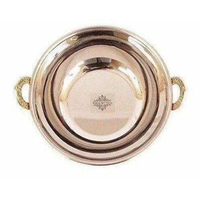 Steel Copper Kadai Bowl - 1000 ML