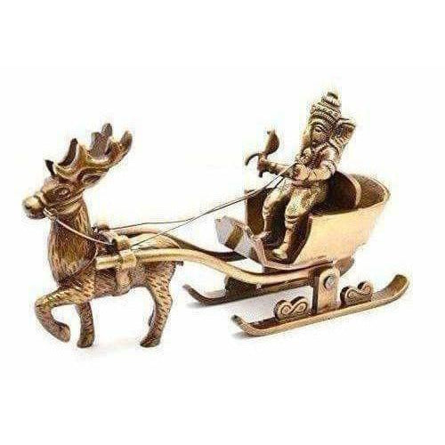 Brass Santa as Ganesha Showpiece - Dista Cart