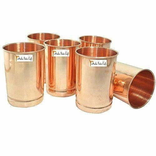 Copper Glass Drinkware -  Set of 6 - Distacart