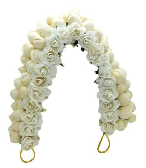 White Rose Mogra Gajra