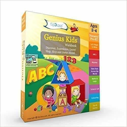 Genius Kids Worksheets for Nursery - Set of 8 Workbooks for Pre-KG