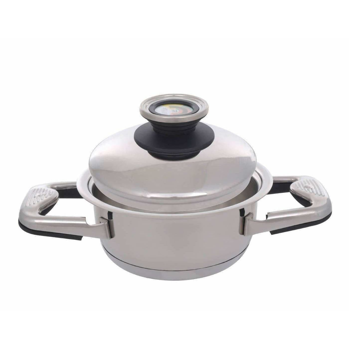 Nutricook - High grade SS 316L Cookware Oil Less & Water Less Sauce Pot with Lid 1.1 Litre 16 cm dia