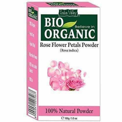Indus Valley 100% Organic Rose Petals Powder - Distacart