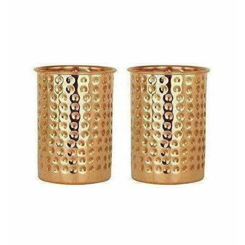 Pure Copper Glass Cup Volume 350ml - Set of 2
