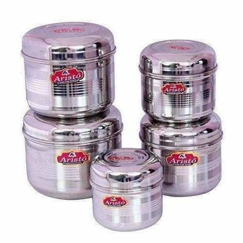 Storage Designer Steel Containers Set of 5 Pieces