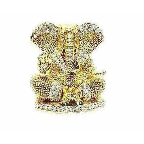Diamond Stone Studded Ganesh Idol - Dista Cart