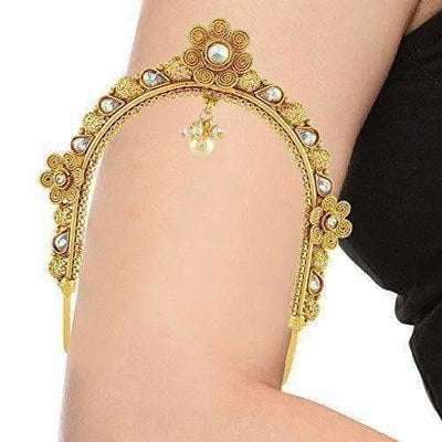 Gold Plated South Indian Vanki - Armlet