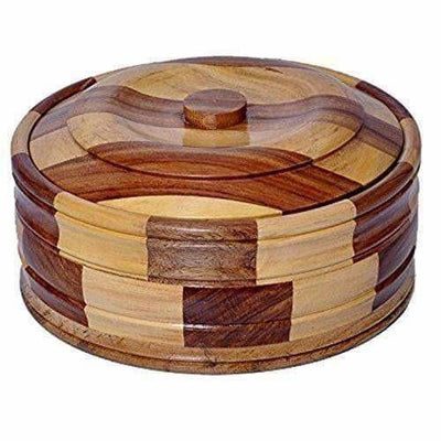 Brown Color - Wooden Casserole