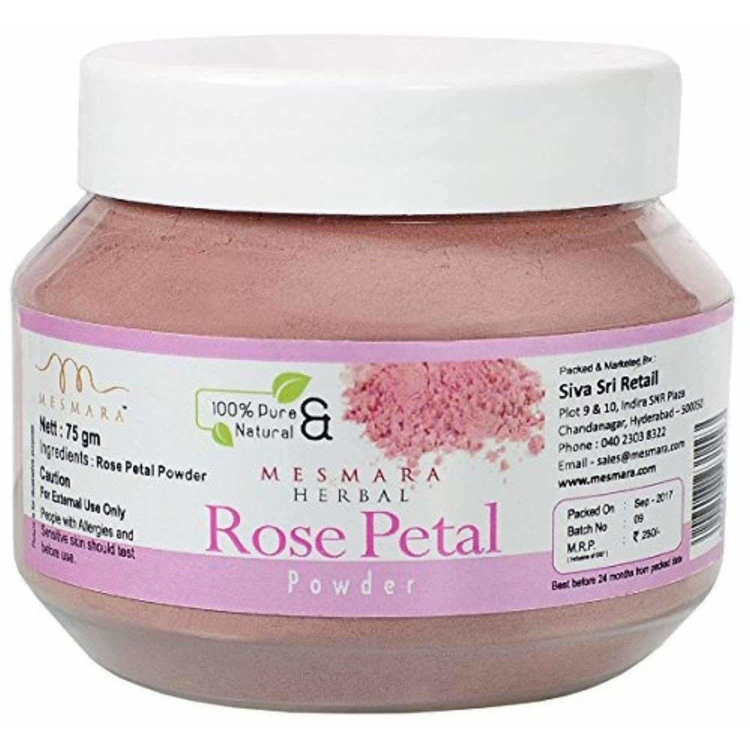 Mesmara Herbal Rose petal powder 75g