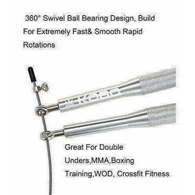 Kobo Metal Speed Aluminum Jump Rope (Silver)