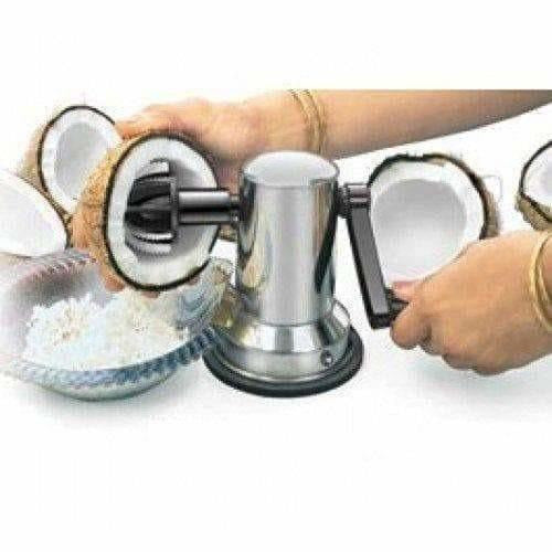 Stainless Steel Coconut Scrapper Crusher With Vacuum Base