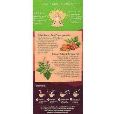Organic India Tulsi Green Tea, Pomegranate, 25 Tea Bags
