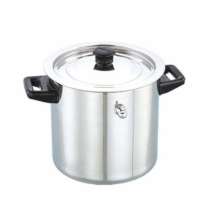 Stainless Steel Cookware Finish Look Heat Insulated Water Boiler Silver