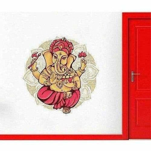Lord Ganesha Colorful Wall Sticker