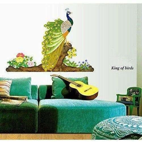 Multicolor - Decals Design Peacock Bird Wall Sticker