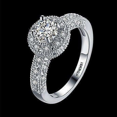 Crystal Royal Queen Sterling Silver Plated Ring