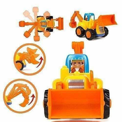 Multi Color - Unbreakable Automobile Car Toys for Kids Set of 4