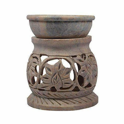 Handcrafted Soapstone Aroma Burner,Oil Diffuses - Dista Cart