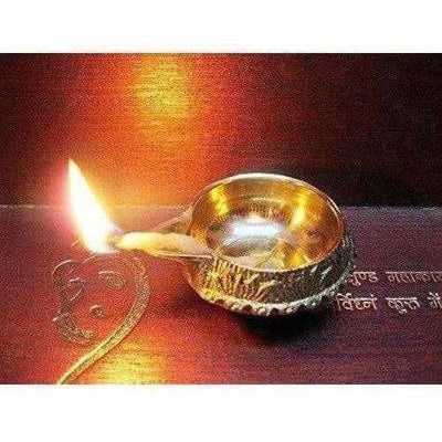 Diwali Kuber Deepak - Diya Oil Lamp For Puja Set Of 2 - Dista Cart